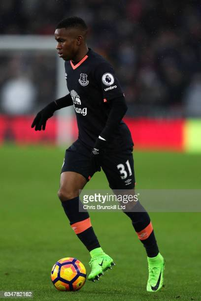 Ademola Lookman of Everton in action during the Premier League match between Middlesbrough and Everton at Riverside Stadium on February 11 2017 in...