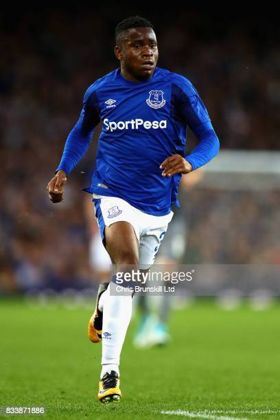 Ademola Lookman of Everton in action during the UEFA Europa League Qualifying PlayOffs round first leg match between Everton FC and Hajduk Split at...
