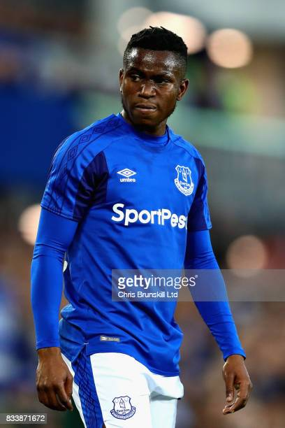Ademola Lookman of Everton looks on during the UEFA Europa League Qualifying PlayOffs round first leg match between Everton FC and Hajduk Split at...