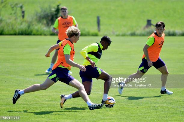 Ademola Lookman of Everton on the ball during preseason training on July 18 2017 in De Lutte Netherlands
