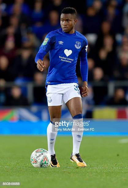 Ademola Lookman of Everton on the ball during the Carabao Cup Third Round match between Everton and Sunderland at Goodison Park on September 20 2017...