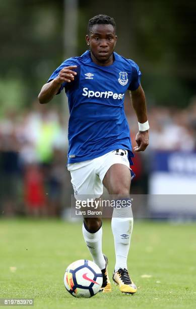 Ademola Lookman of Everton runs with the ball during a preseason friendly match between FC Twente and Everton FC at Sportpark de Stockakker on July...