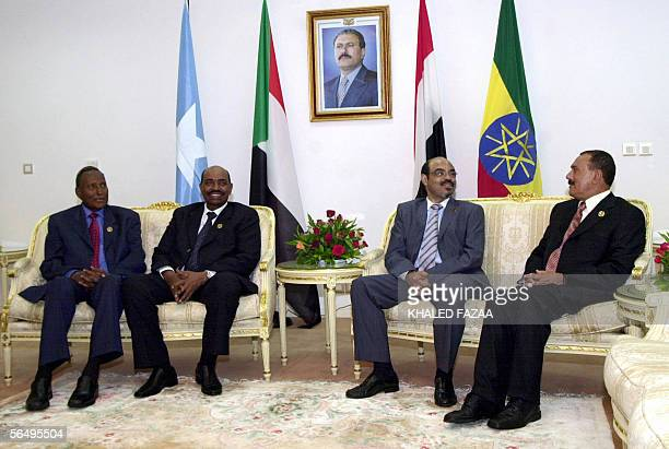 Yemeni President Ali Abdullah Saleh Ethiopian Prime Minister Mehles Zenawi Sudanese President Omar alBashir and Somali President Abdullah Yusuf...