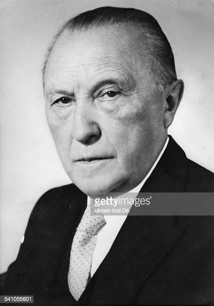 Adenauer Konrad *05011876Politiker CDU BRDPorträt 1955