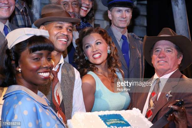 Adepero Oduye Cuba Gooding Jr Vanessa Williams Tom Wopat and cast attend 'The Trip To Bountiful' 100th Performance Celebration at Stephen Sondheim...