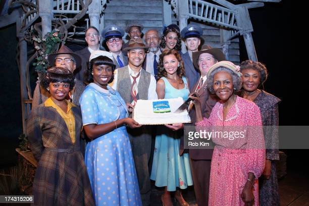 Adepero Oduye Cuba Gooding Jr Vanessa Williams Tom Wopat Cicely Tyson and the cast attend 'The Trip To Bountiful' 100th Performance Celebration at...