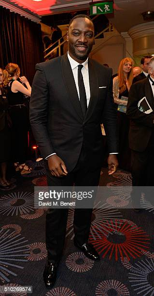 Adewale Akinnuoye Agbaje attends the official After Party Dinner for the EE British Academy Film Awards at The Grosvenor House Hotel on February 14...
