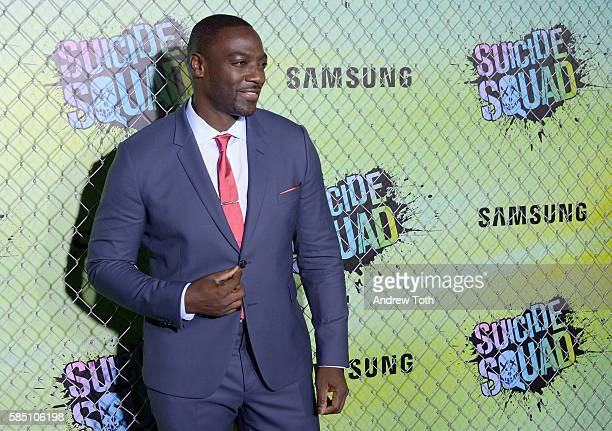 Adewale AkinnuoyeAgbaje attends the 'Suicide Squad' World Premiere at The Beacon Theatre on August 1 2016 in New York City