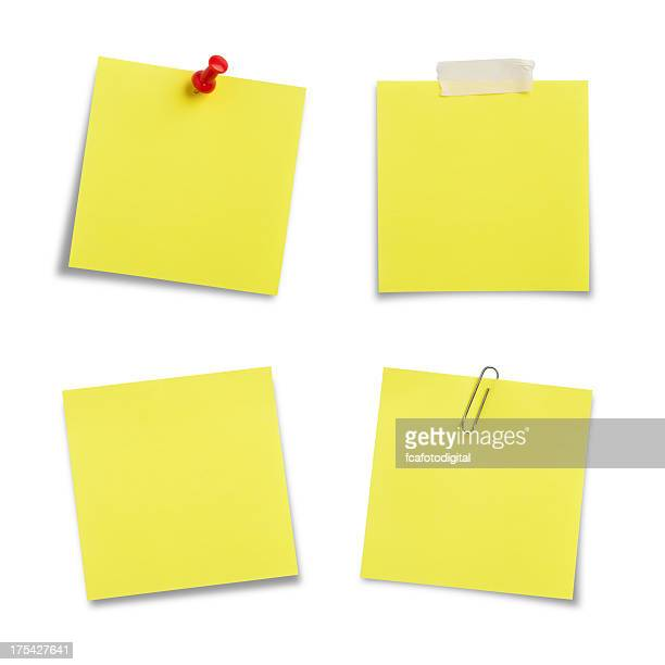 Adhesive Notes with Clipping Path