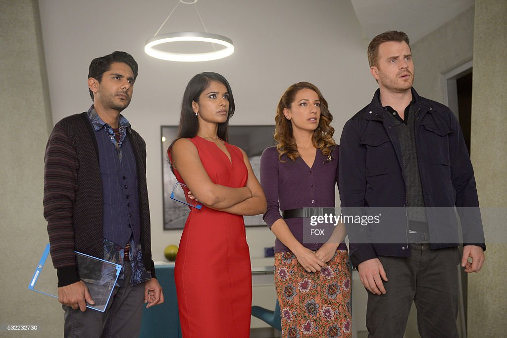 Adhir Kalyan Dilshad Vadsaria Vanessa Lengies and Rob Kazinsky in the 'Scratch That Glitch' episode of SECOND CHANCE airing Wednesday Feb 10 on FOX