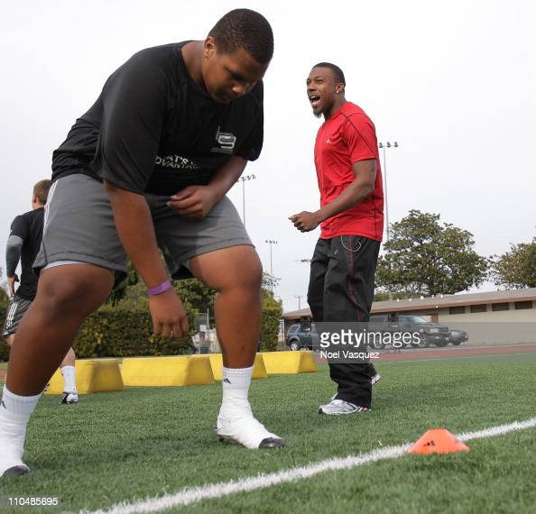 adidas and Eric Berry pop into a football practice in Los Angeles to capture game faces as part of the adidas Facebook Game Face contest