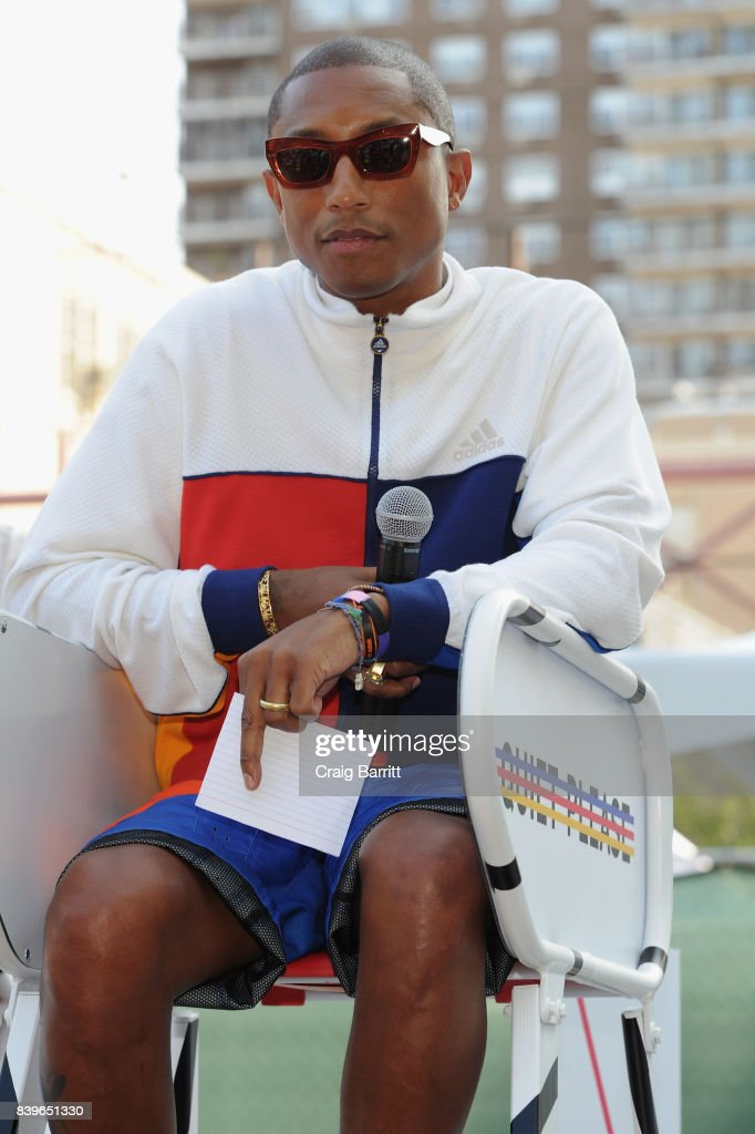 adidas Tennis + Pharrell Williams Don't Be Quiet Please Event at Frederick Johnson Tennis Courts on August 26, 2017 in New York City.