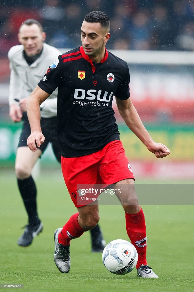 Adil Auassar of Excelsior during the Dutch Eredivisie match between Excelsior Rotterdam and ADO Den Haag at Woudenstein stadium on February 14, 2016 in Rotterdam, The Netherlands