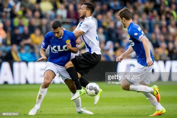 Adil Auassar of Roda JC Lewis Baker of Vitesseduring the Dutch Eredivisie match between Vitesse Arnhem and Roda JC Kerkrade at Gelredome on May 14...