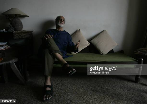Adil Jussawala a poet at his residences in Mumbai on Tuesday