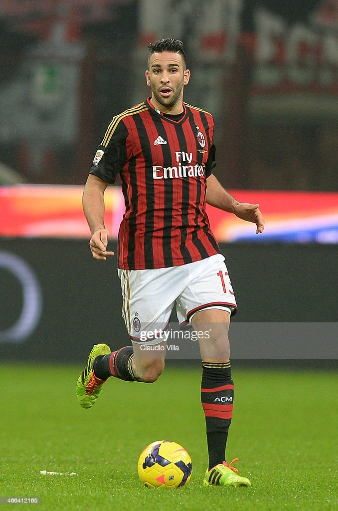 <a gi-track='captionPersonalityLinkClicked' href=/galleries/search?phrase=Adil+Rami&family=editorial&specificpeople=4305019 ng-click='$event.stopPropagation()'>Adil Rami</a> of AC Milan in action during the Serie A match between AC Milan and Torino FC at San Siro Stadium on February 1, 2014 in Milan, Italy.
