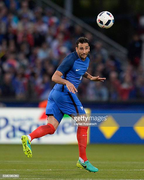 Adil Rami of France controls the ball during the International Friendly between France and Scotland on June 4 2016 in Metz France