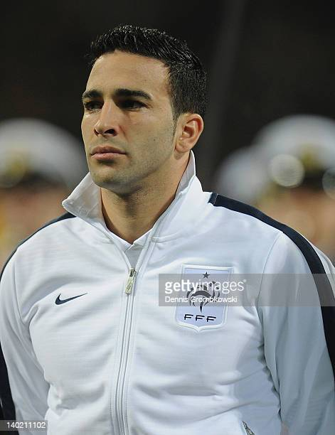 Adil Rami of France poses prior to the International friendly match between Germany and France at Weser Stadium on February 29 2012 in Bremen Germany
