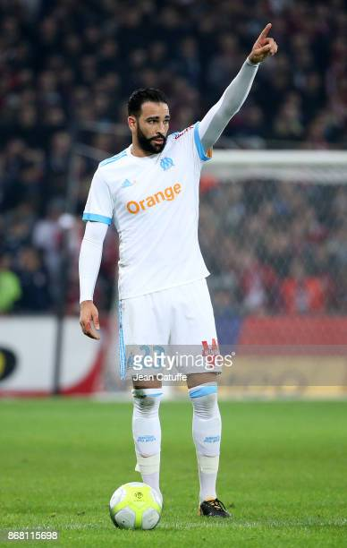 Adil Rami of OM during the French Ligue 1 match between Lille OSC and Olympique de Marseille at Stade Pierre Mauroy on October 29 2017 in Lille France