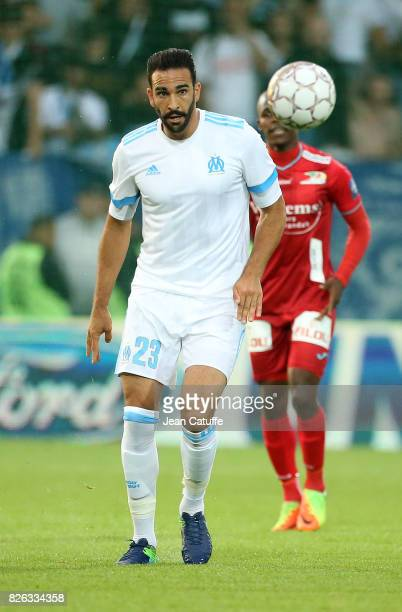Adil Rami of OM during the UEFA Europa League third qualifying round second leg match between KV Oostende and Olympique de Marseille at Versluys...