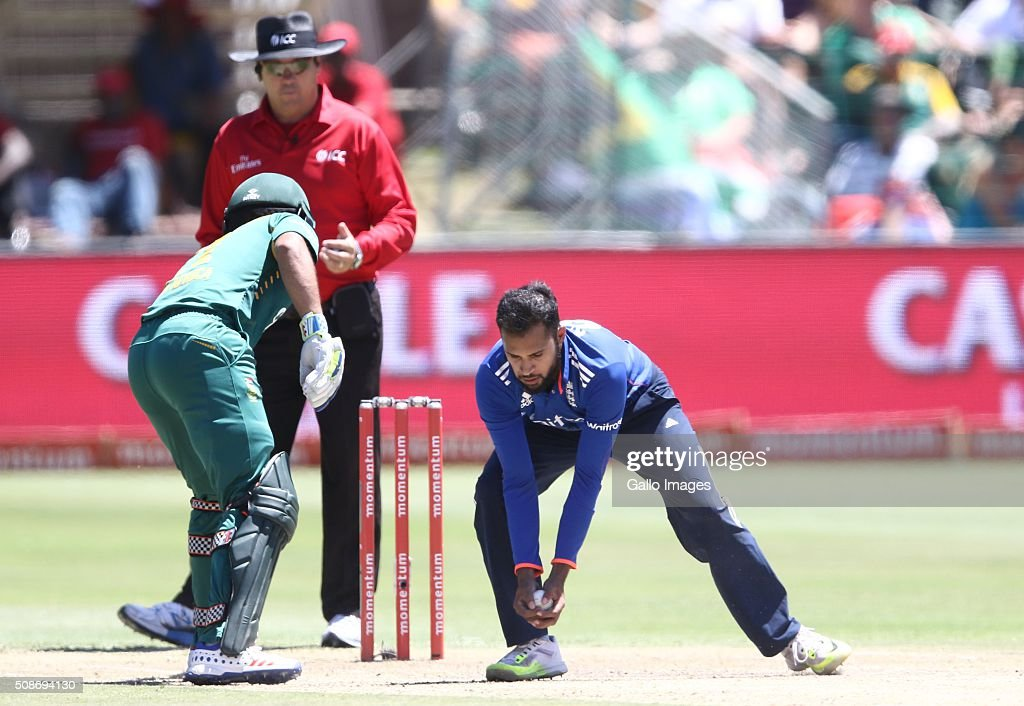 Adil Rashid of England during the 2nd Momentum ODI Series match between South Africa and England at St Georges Park on February 06, 2016 in Port Elizabeth, South Africa.