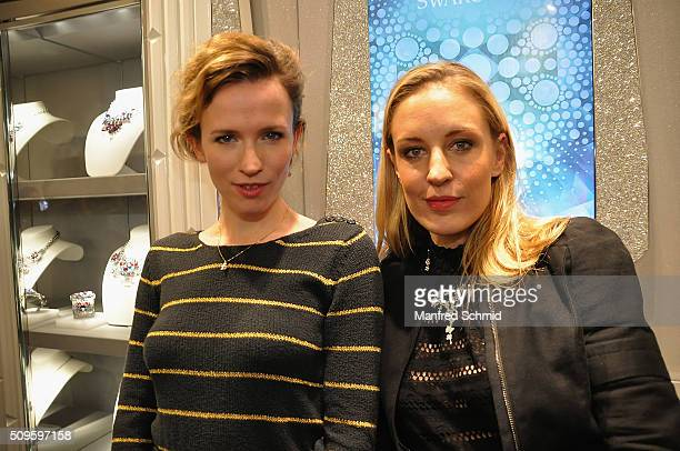 Adina Vetter and Lilian Klebow attend the launch of Swarovski 'Sea of Sparkle' Collection on February 11 2016 in Vienna Austria