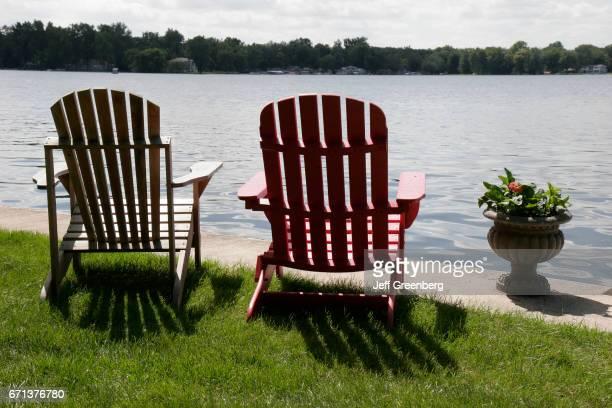 Adirandack chairs on Winona Lake