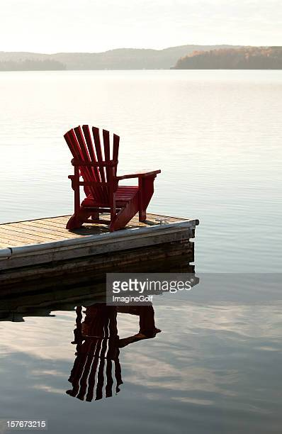 Adirondack Chair by the Lake