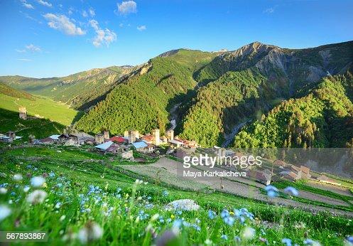 Adishi village, Caucasus mountain, Svaneti,Georgia