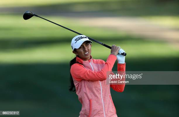 Aditi Ashok of India in action during the proam as a preview for the 2017 ANA Inspiration held on the Dinah Shore Tournament Course at the Mission...