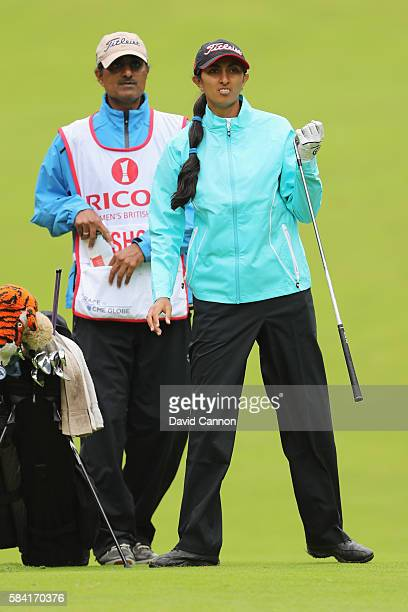 Aditi Ashok of India looks on during the first round of the 2016 Ricoh Women's British Open on July 28 2016 in Woburn England