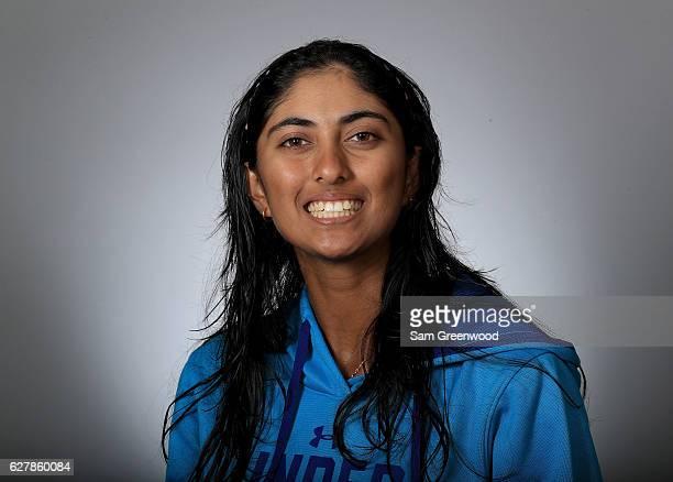 Aditi Ashok of India poses for a portrait at LPGA Headquarters on December 5 2016 in Daytona Beach Florida