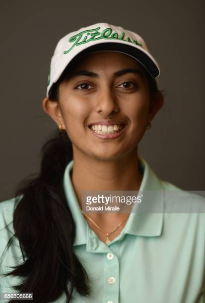 Aditi Ashok of India poses for a portrait during the KIA Classic at the Park Hyatt Aviara Resort on March 21 2017 in Carlsbad California