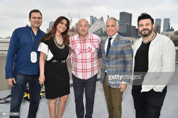 Aditi Gokhale Sameer Gokhale Andrew Zimmern Geoffrey Zakarian and Adam Richman attend the Food Network Cooking Channel New York City Wine Food...