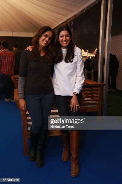 Aditi Kapoor and Ruchi Sibal cofounders and directors Palate Fest Pvt Ltd Food Festival Organisers during the Hindustan Times Palate Fest 2017 at...