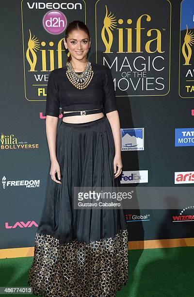 Aditi Rao Hydari arrives to the IIFA Magic of the Movies at MIDFLORIDA Credit Union Amphitheatre on April 25 2014 in Tampa Florida