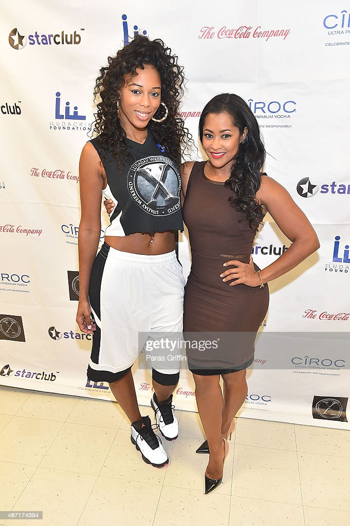Adiz 'Bambi' Benson and Lisa Wu attends LudaDay Weekend Annual Celebrity Basketball Game at Georgia State University Sports Arena on September 6 2015...
