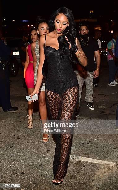 Adiz Bambi' Benson attends Love Hip Hop Atlanta Take Over at Prive on June 12 2015 in Atlanta Georgia