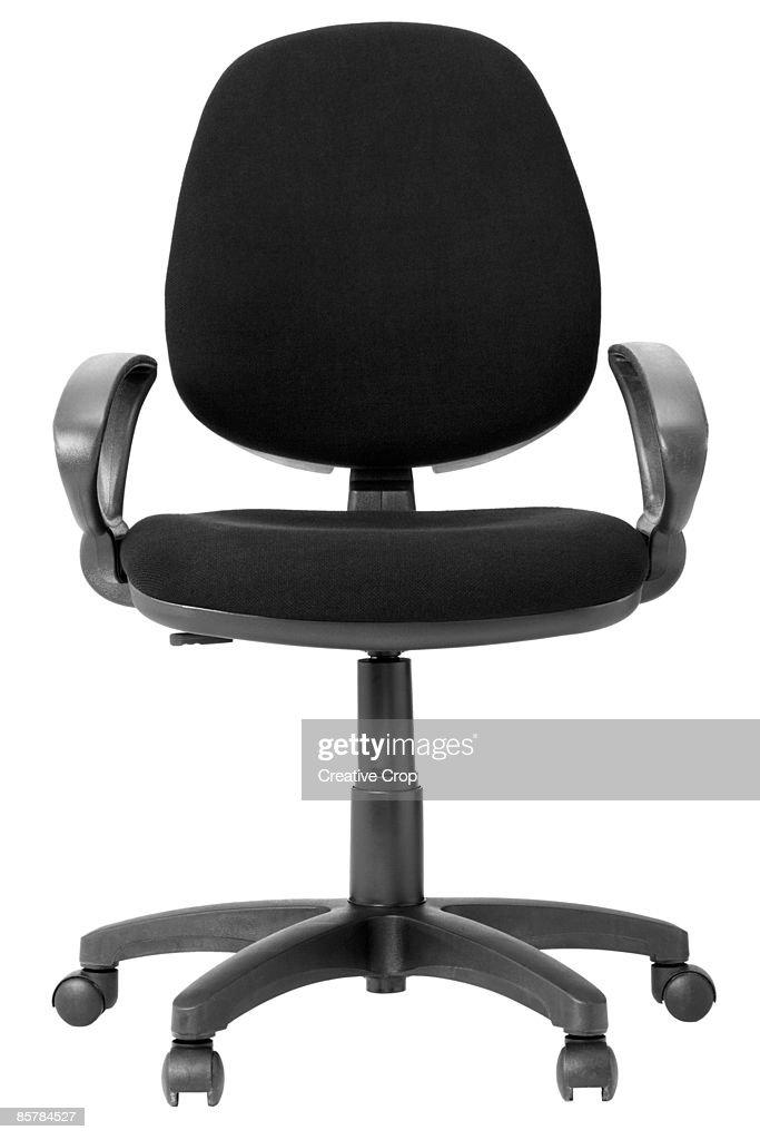 Adjustable black office workers chair