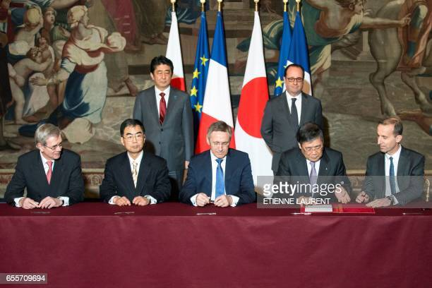 Administration Council President Philippe Varin Japan Nuclear Fuel Agency CEO Kenji Kudo French State Participations Agency President Martin Vial...