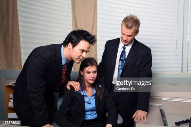 Administrative Assistant and two Touchy Feely Managers