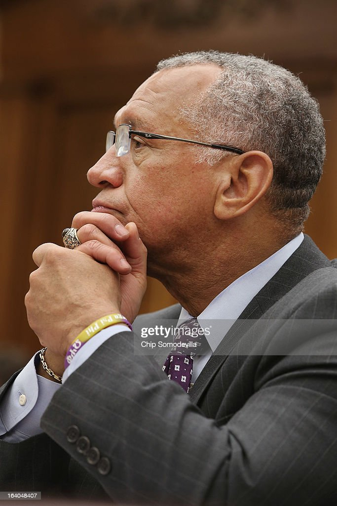 Administrator Charles Bolden Jr. testifies before the House Science, Space and Technology Committee during a hearing in the Rayburn House Office Building on Capitol Hill March 19, 2013 in Washington, DC. The committee asked government and military experts about efforts to track and mitigate asteroids, meteors and other 'near-Earth objects.'