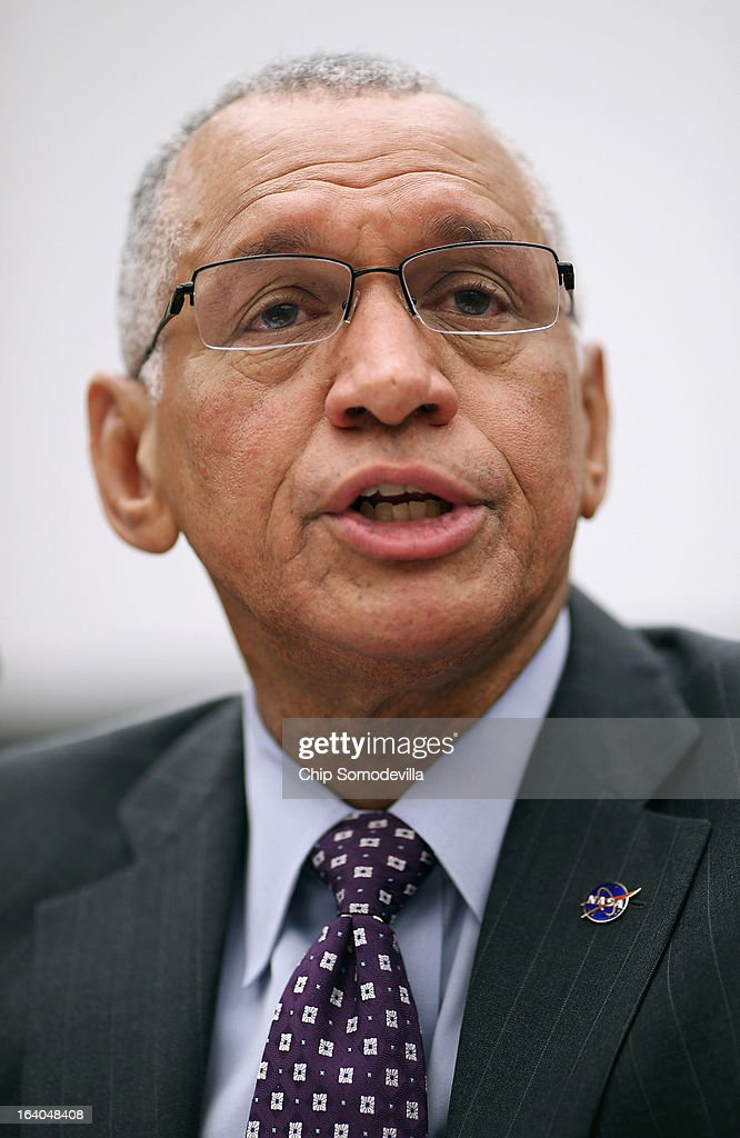 Administrator <a gi-track='captionPersonalityLinkClicked' href=/galleries/search?phrase=Charles+Bolden+-+NASA+Administrator&family=editorial&specificpeople=15164541 ng-click='$event.stopPropagation()'>Charles Bolden</a> Jr. testifies before the House Science, Space and Technology Committee during a hearing in the Rayburn House Office Building on Capitol Hill March 19, 2013 in Washington, DC. The committee asked government and military experts about efforts to track and mitigate asteroids, meteors and other 'near-Earth objects.'