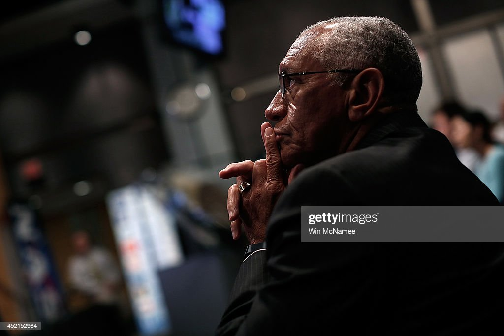Administrator <a gi-track='captionPersonalityLinkClicked' href=/galleries/search?phrase=Charles+Bolden+-+NASA+Administrator&family=editorial&specificpeople=15164541 ng-click='$event.stopPropagation()'>Charles Bolden</a> listens to a discussion of 'the scientific and technological roadmap that will lead to the discovery of potentially habitable worlds among the stars' July 14, 2014 in Washington, DC. Most prominent among the methods NASA will search the universe for habitable exoplanets will be the deployment of the James Webb Space Telescope, with a mirror of 21 feet, scheduled to be launched in 2018.