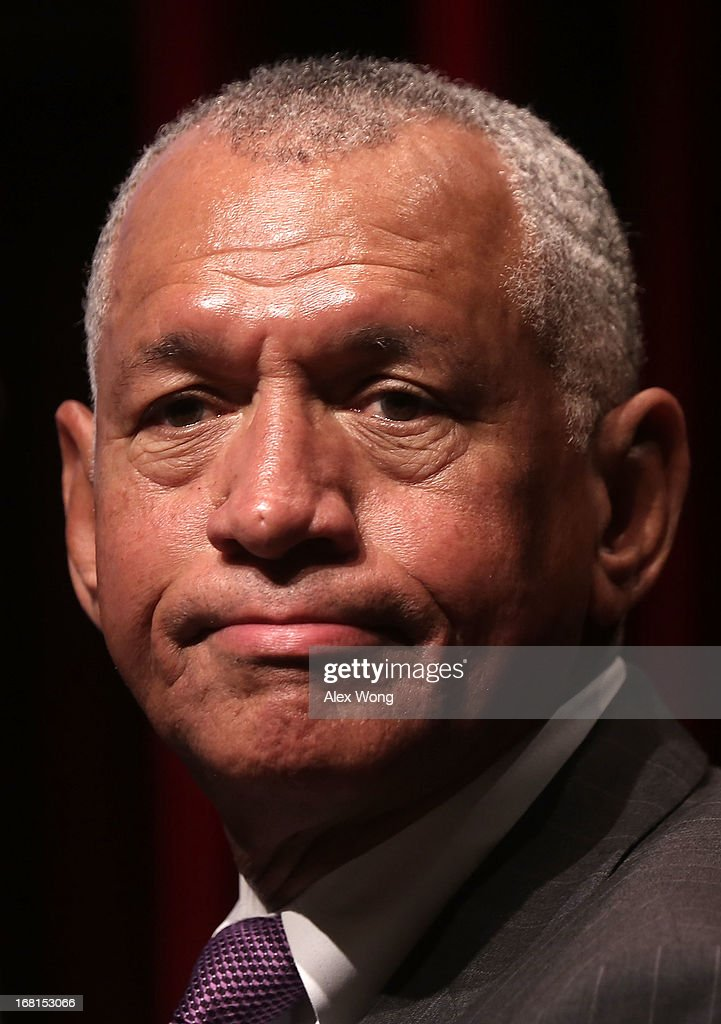 Administrator <a gi-track='captionPersonalityLinkClicked' href=/galleries/search?phrase=Charles+Bolden+-+NASA+Administrator&family=editorial&specificpeople=15164541 ng-click='$event.stopPropagation()'>Charles Bolden</a> pauses as he speaks during the Humans to Mars Summit (H2M) May 6, 2013 at the Lisner Auditorium of the George Washington University in Washington, DC. Explore Mars Inc. held the summit to discuss Mars exploration and the goal of sending humans to Mars by 2013.