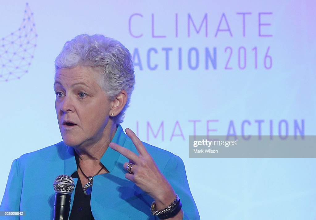 Administrator Gina McCarthy speaks during the Climate Action 2016 Summit at the Willard Hotel, May 6, 2016 in Washington, DC. The summit is taking place two weeks after the signing ceremony of the Paris Agreement.