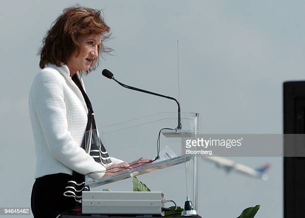 Administrator Marion Blakey speaks at the opening ceremony for the new fifth runway at HartsfieldJackson Atlanta International Airport in Atlanta...