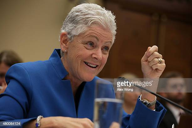 Administrator of the US Environmental Protection Agency Gina McCarthy testifies during a hearing before the House Science Space and Technology...