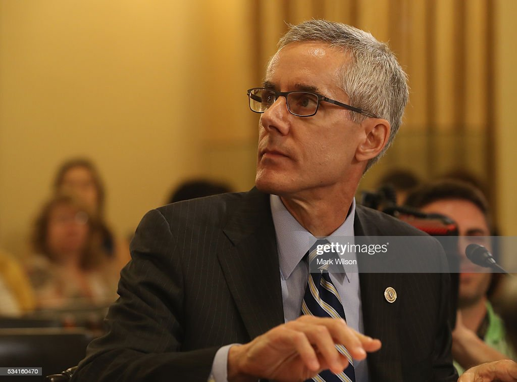 Administrator Peter V. Neffenger, testifies during a House Homeland Security Committee hearing on Capitol Hill, May 25, 2016 in Washington, DC. The committee is hearing testimony on long lines at airport security screening check points.