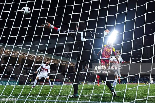 Admir Mehmedi of Switzerland scores his team's second goal during the FIFA 2018 World Cup Qualifier between Andorra and Switzerland at Estadi...